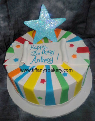 Multi-Color Fondant Stripes