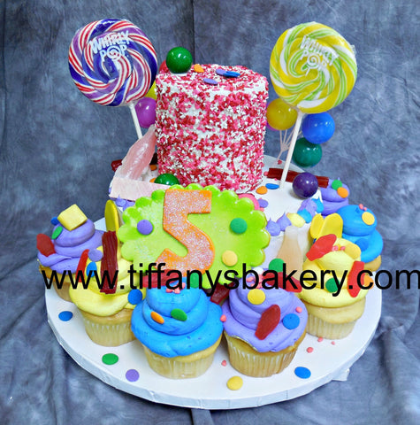 Candy Cake and Cupcakes