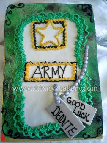Military Army Dog Tag Cake