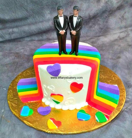 Rainbow Sky Premier Wedding Cake