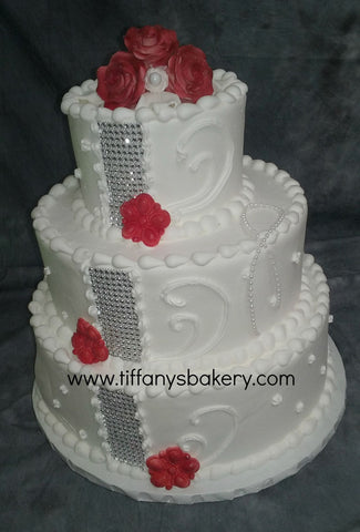Bling Fling Classic Gold Wedding Cake