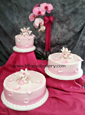 Orchid Floating Tiers Premier Wedding Cake