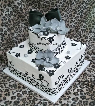 Cheetah Premier Wedding Cake