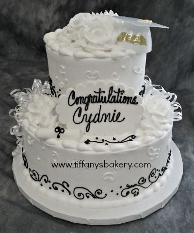 Graduation Celebration Tier Cake with White Cap
