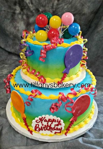 Balloon Celebration Tier Cake