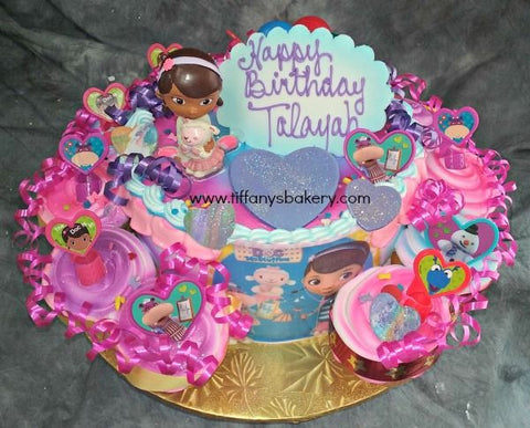 "Doc McStuffins 8"" Round Cake with 12 Cupcakes"