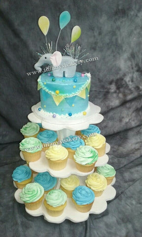 Cupcake Tower with Elephant
