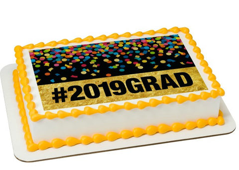 Grad 2019 Edible Image Layon Design #23762