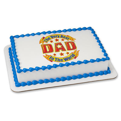 Best Dad in the World Edible Image Layon #433 Sheet