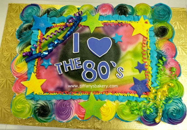 Amazing Cupcake Cake 48 Cupcakes 80S Theme Tiffanys Bakery Funny Birthday Cards Online Barepcheapnameinfo