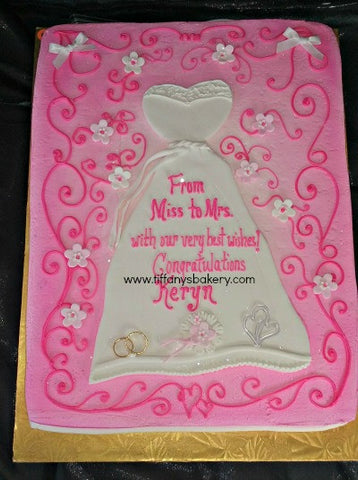 Bridal Gown Sheet Cake
