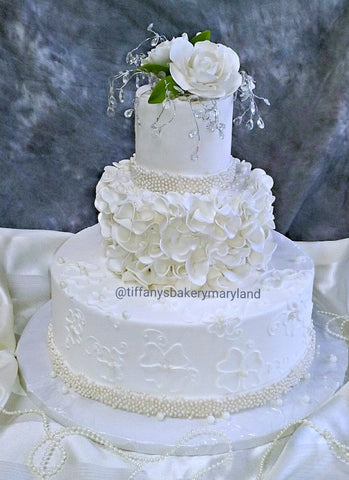 Crystal Drops Fondant Wedding Cake