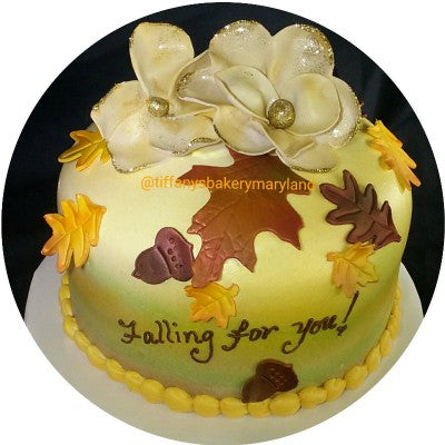 Fall Round Domed Cake