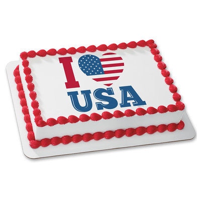 I Love USA Edible Image Layon #19607 Sheet