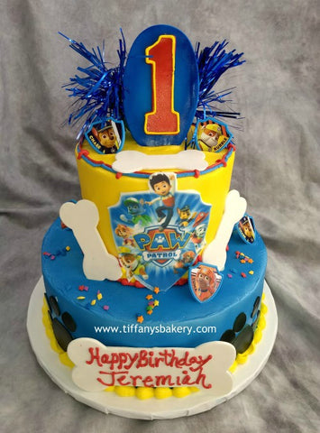 Paw Patrol Round Celebration Tier Cake