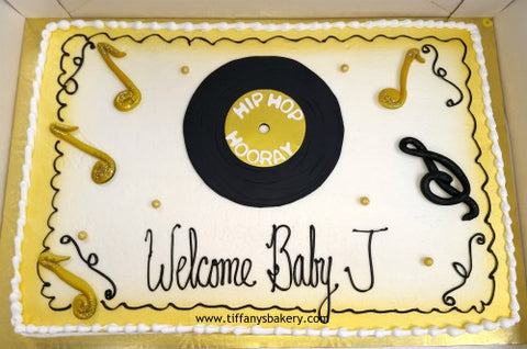 Record  on Sheet Cake