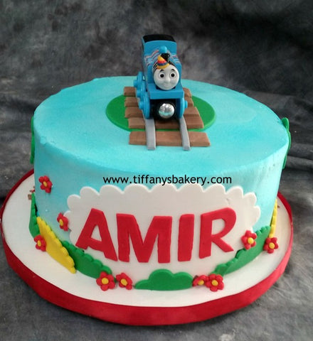 Buttercream Frosted  Round Cake - Thomas the Train