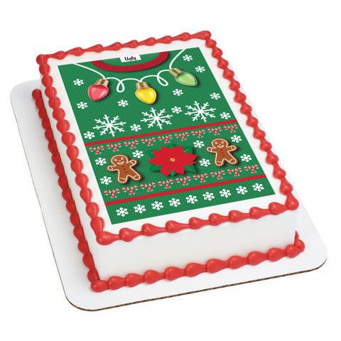 Ugly Sweater Edible Image Layon #20459