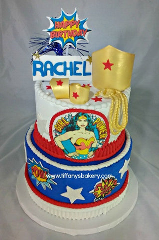 Wonder Woman Celebration Tier Cake