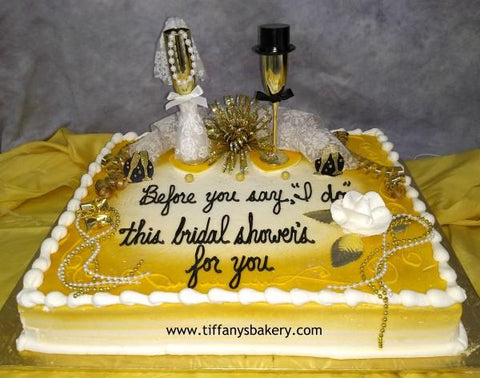 Bride and Groom Champagne Flute Sheet Cake