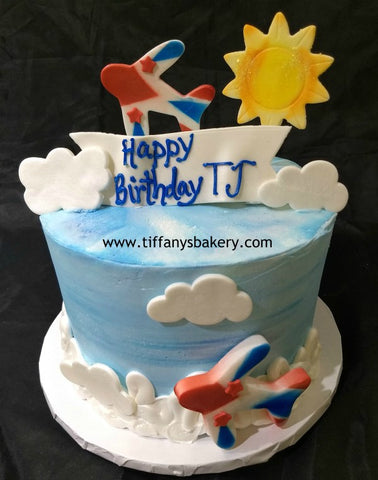 Airplane on 6 inch Round Cake