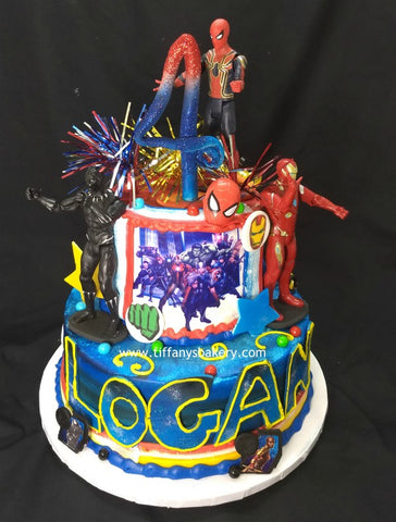 "Avengers Celebration Tier Cake - 6"" and 10"" Round"
