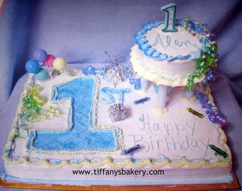 Brilliant Babys First Birthday Sheet With 6 Round Cake Tiffanys Bakery Personalised Birthday Cards Veneteletsinfo
