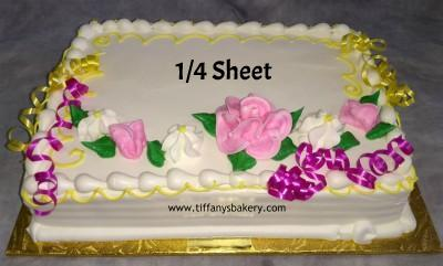 Basic Budget Sheet Cake - Flower Design