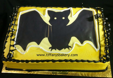 Bat Sheet Cake with Edible Image Layon