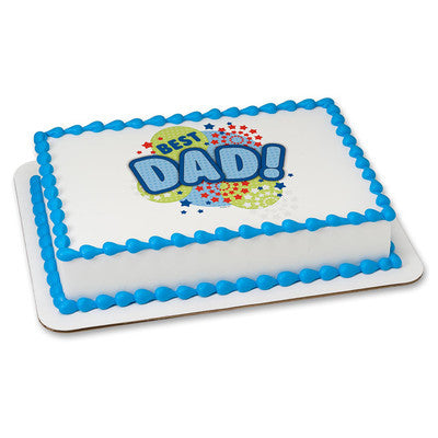 Best Dad Edible Image Layon #353 Sheet