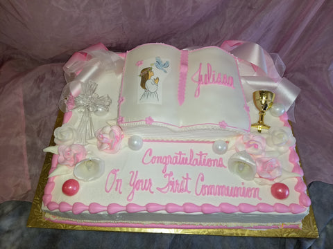 Bible on Half Sheet for First Communion