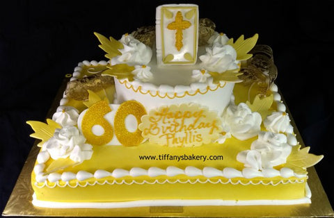 Bible on Half Sheet with 6 Inch Round Cake