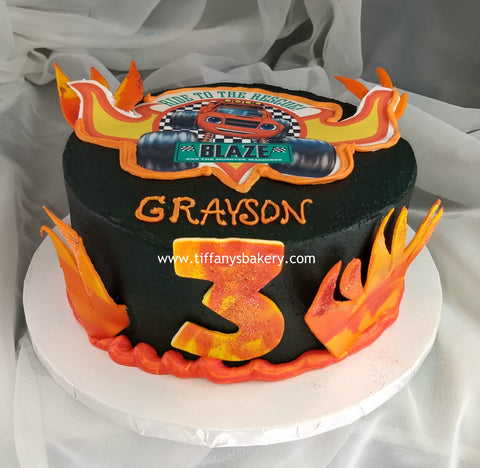 Blaze Ride to the Rescue Round Cake