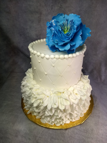 Magic Buttercream Ruffles and Diamond Pattern Celebration Tier Cake