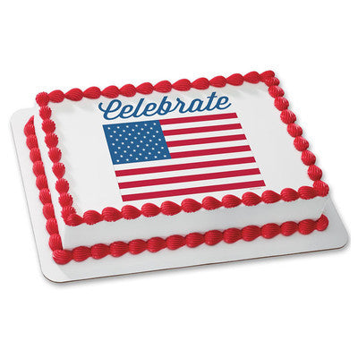 Celebrate America Flag Edible Image Layon #19608 Sheet