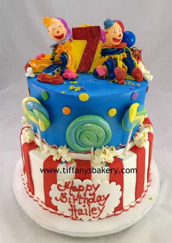 Clowns on a Celebration Tier Cake