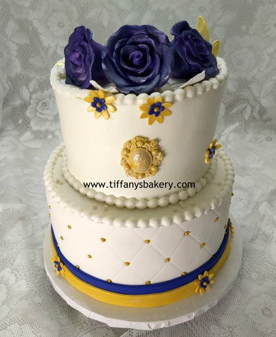 Diamond Pattern Celebration Tier Cake