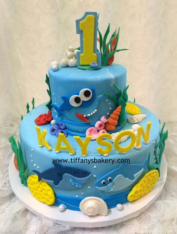 Celebration Tier Cake -  Sharks