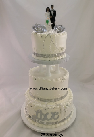 LOVE Classic Gold Wedding Cake