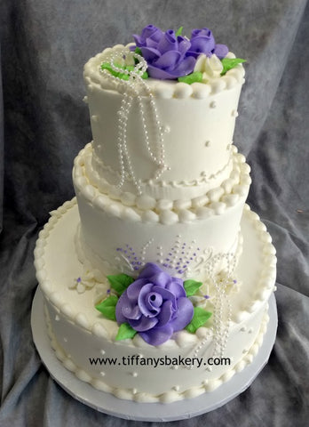 Single Dot Classic Wedding Cake