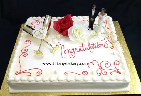 Congratulations  Engagement Sheet Cake