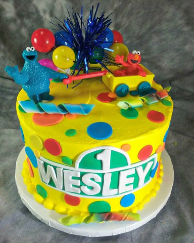 Sesame Street - Cookie Monster and Elmo Round Cake