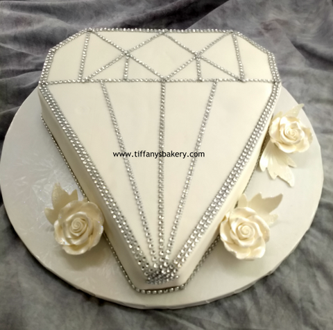 Diamond Shape Cutout Cake