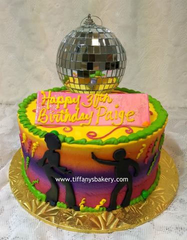 "Disco Dancers on 8"" Round Cake"
