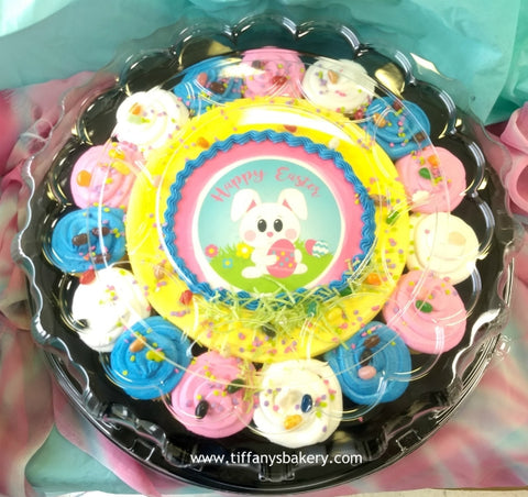"10"" Round with 15 cupcakes on a Tray - Easter Special"