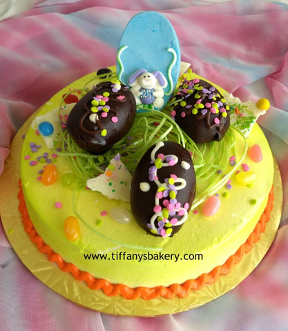 Easter Eggs on Round Cake