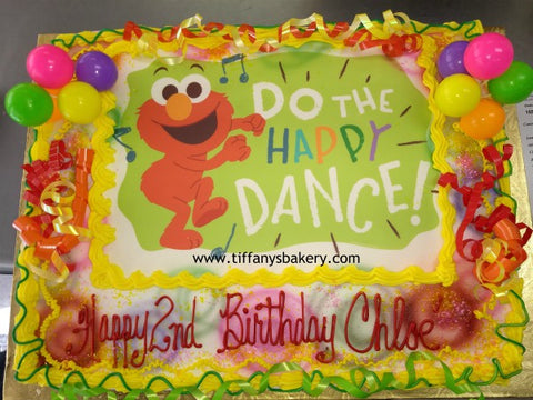 Sesame Street Elmo Happy Dance Edible Image Layon