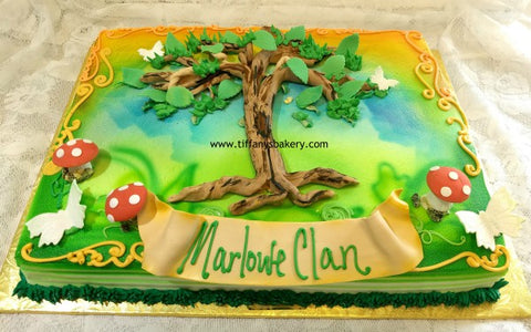 Family Tree Sheet Cake