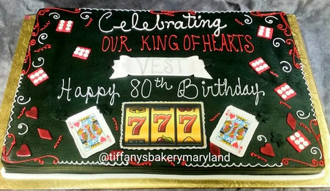 King of Hearts Sheet Cake