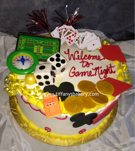 Gambling Design on Round Cake
